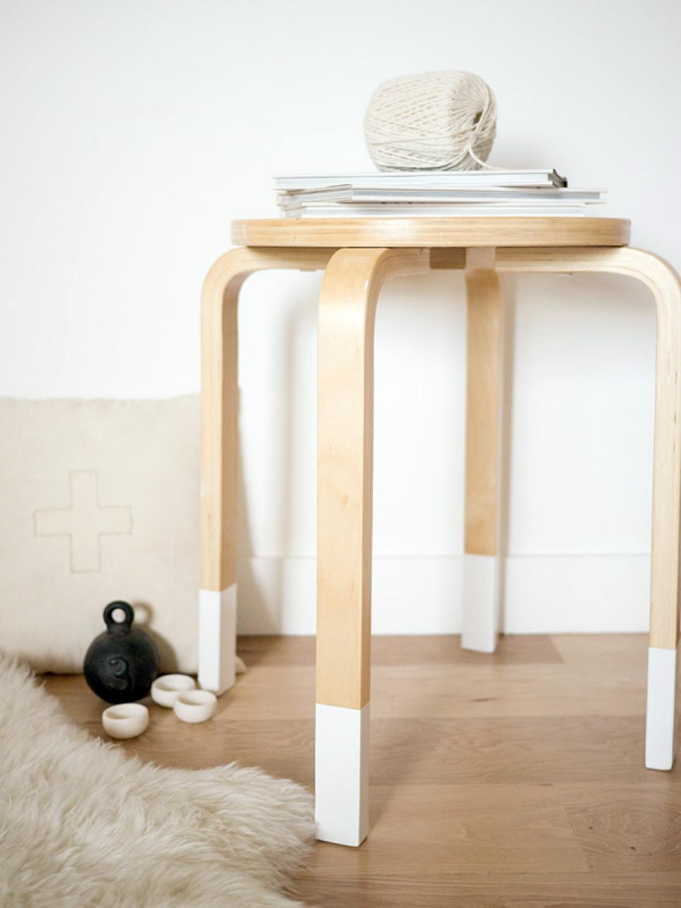 one pot paint projects DIY project the handy mano manomano dip dyed painted stool legs