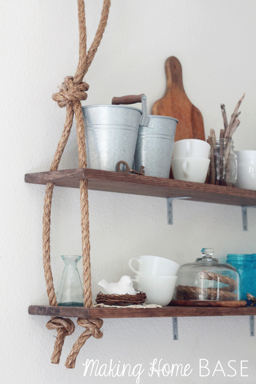 DIY shelving ideas shelves shelf the handy mano manomano rope shelf bathroom nautical