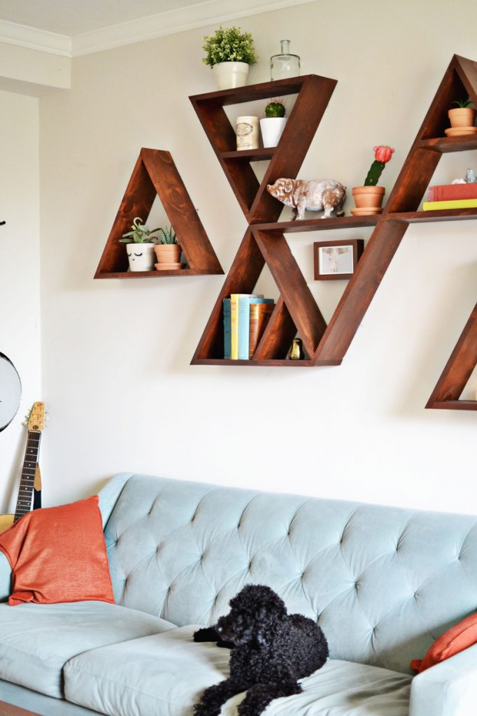DIY shelving ideas shelves shelf the handy mano manomano design triangle shelf