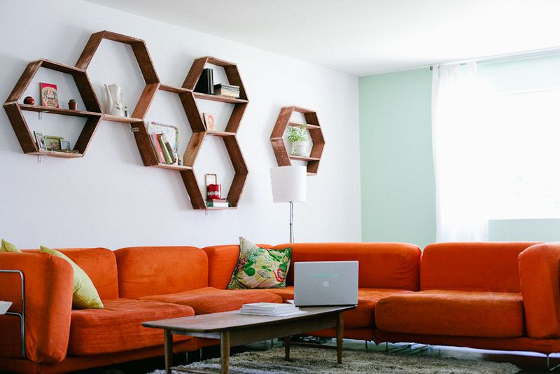 DIY shelving ideas shelves shelf the handy mano manomano hexagonal hexagon honeycomb shelf