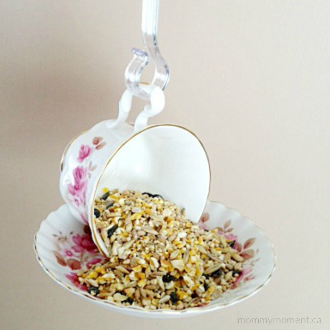 8 Simple Ways to Make a DIY Bird Feeder home made bird feeders easy simple make your own handy mano manomano cup saucer