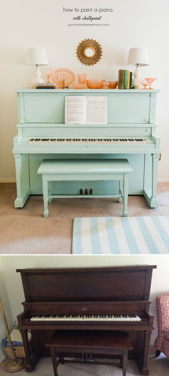 10 Chalk Paint Furniture Ideas and How to Use Chalk Paint make distressed distress shabby chic the handy mano manomano piano