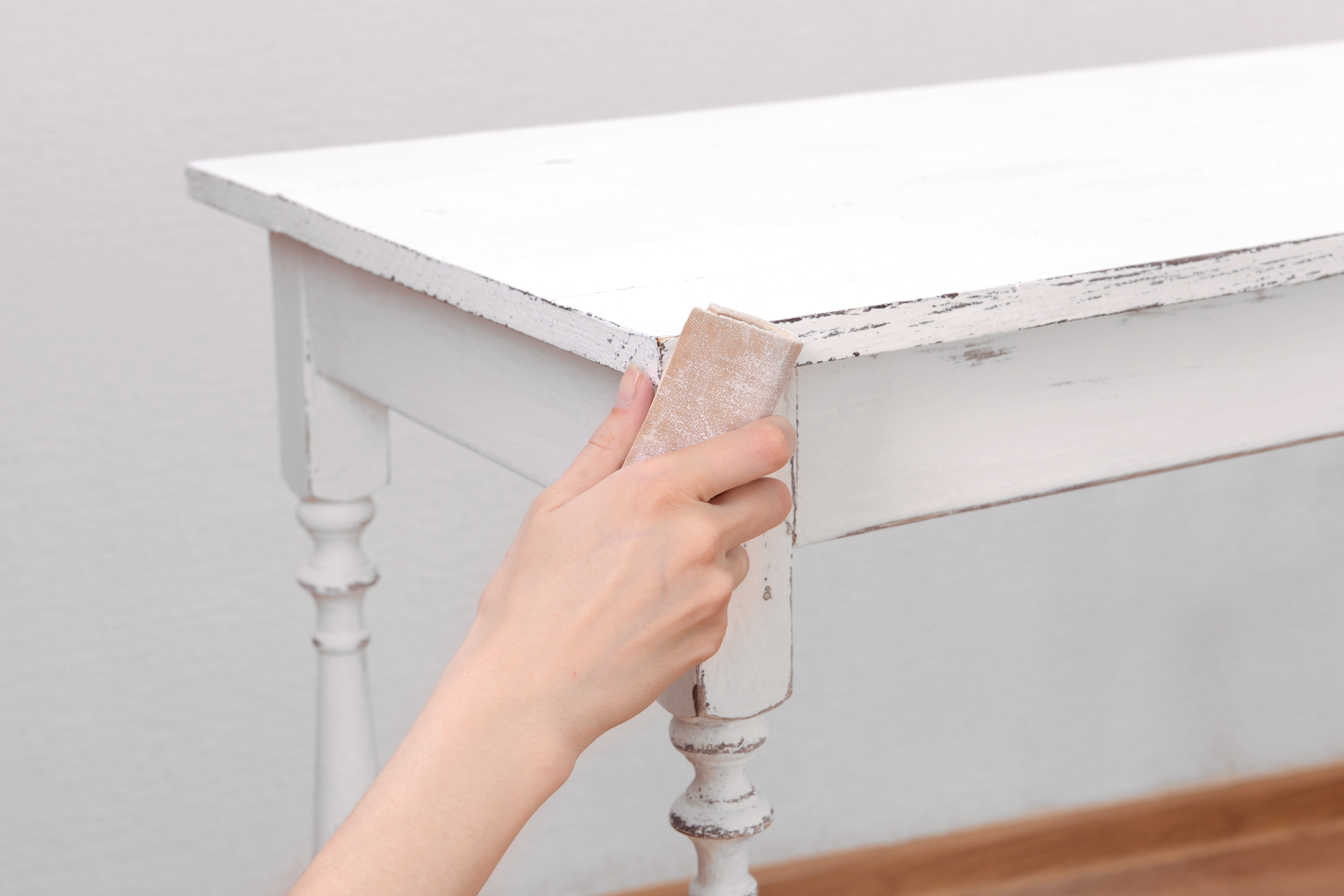 How to make chalk paint homemade cheap chalky finish furniture shabby distressed