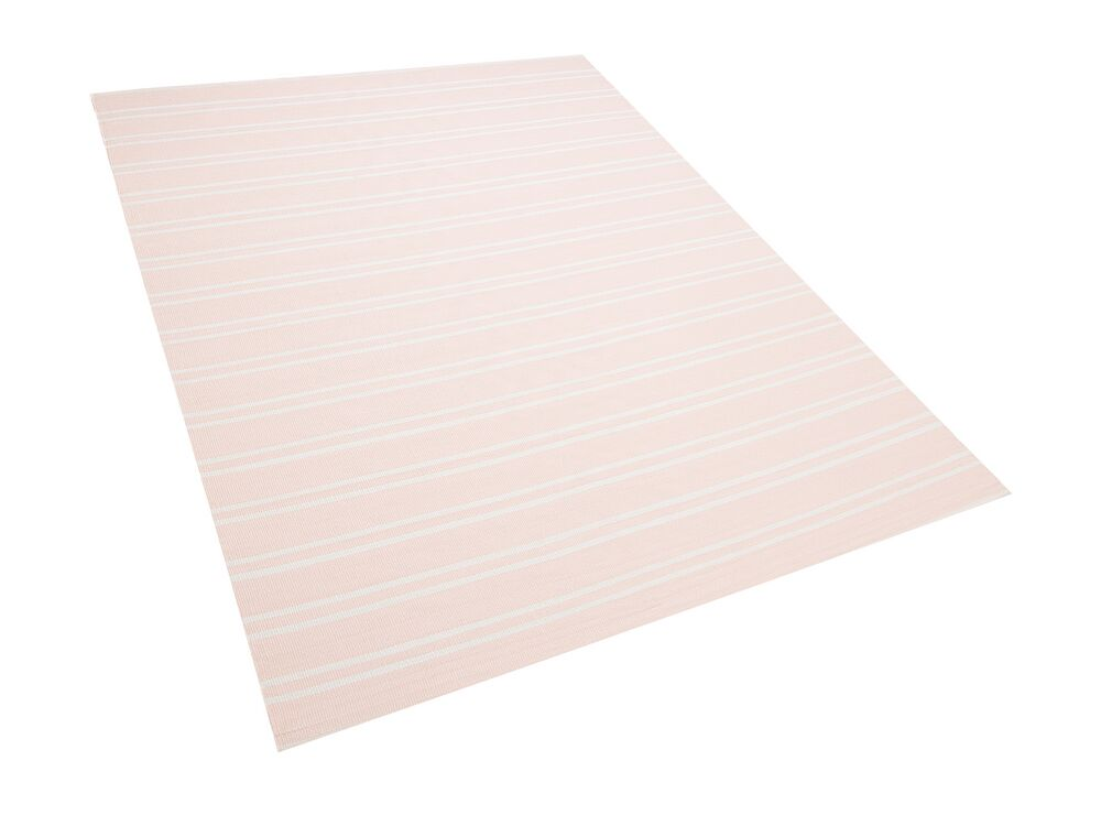 Outdoor Area Rug 140 x 200 cm Pink AKYAR by Beliani for your outdoor living room